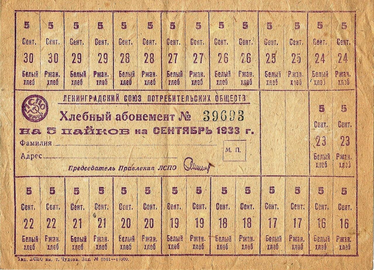 Отмена частной торговли. Всесоюзная карточная система